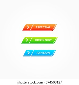 Free Trial, Order Now & Join Now Buttons