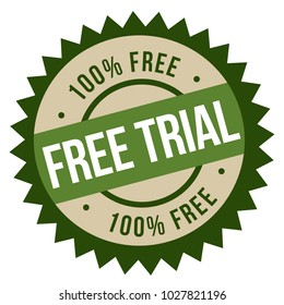 Free Trial stamp. Typographic sign, stamp or logo