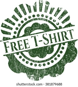 Free T-Shirt rubber texture