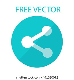 free vector style flat molecule