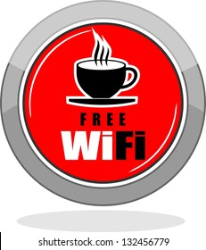 Free WiFi Available Here With Coffee Cup