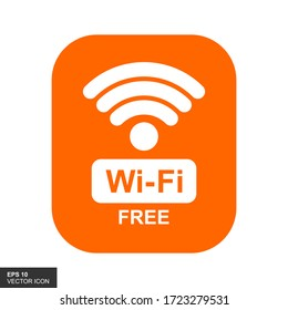 Free WiFi icon symbol. Vector wifi sign with a wave signal icon on a white background.