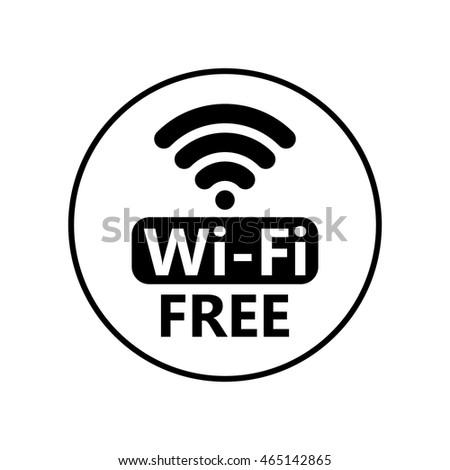 free wifi icon symbol vector circle のベクター画像素材
