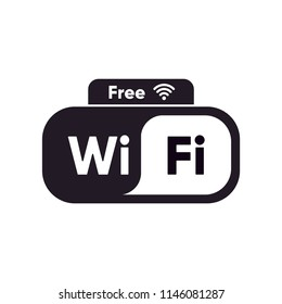 free wifi icon vector.