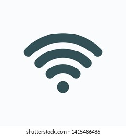Free wifi isolated icon, internet wi fi linear vector icon