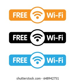 Free WiFi Labels