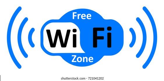 Free wifi logo zone in cloud – stock vector