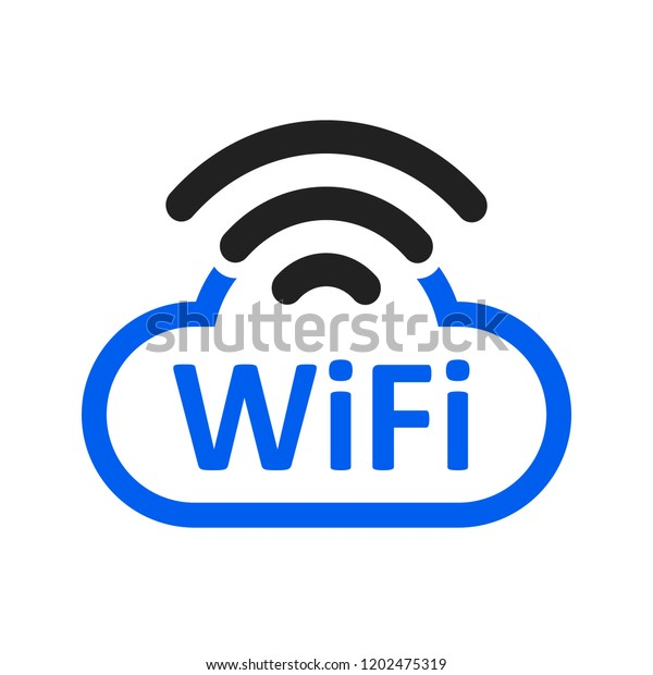 Free Wifi Logo Zone Cloud Stock Stock Vector (Royalty Free) 1202475319