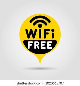 Free WiFi mark. Vector illustration