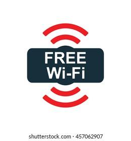free wi-fi point icon on white background
