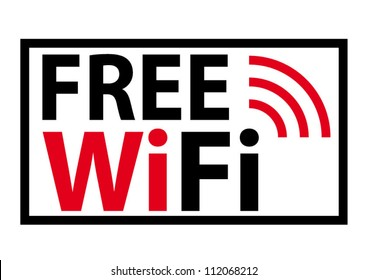 Free wifi sign concept