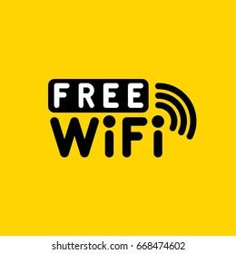 Free WiFi. Vector illustration.