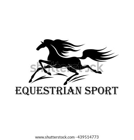Free Wild Mustang Stallion Symbol Horse Stock Vector Royalty Free