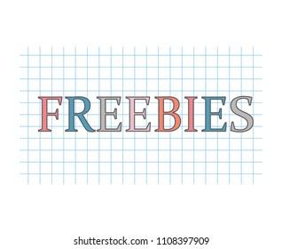 freebies concept- vector illustration
