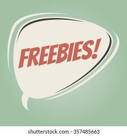 freebies retro speech bubble