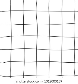 Freehand drawing with squares tile texture. Hand-drawn vector minimalist seamless pattern for your modern design.