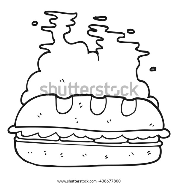 freehand drawn black white cartoon huge stock vector royalty free 438677800 shutterstock