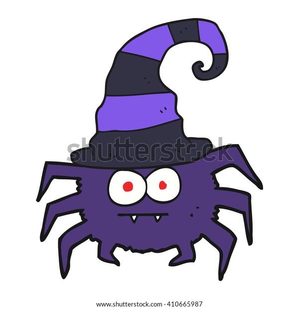 freehand drawn cartoon halloween spider
