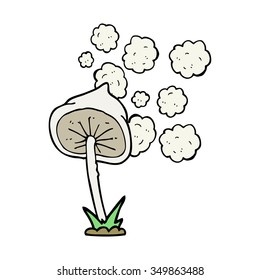 freehand drawn cartoon mushroom