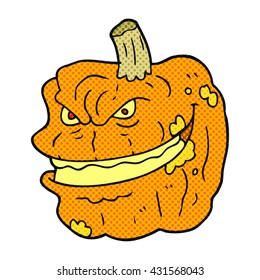 freehand drawn cartoon spooky pumpkin