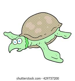 freehand drawn cartoon turtle