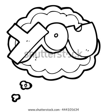 Freehand Drawn Thought Bubble Cartoon You Stock Vector Royalty Free
