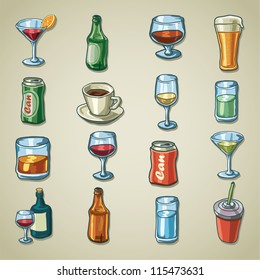 Freehand icons - Drinks