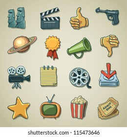Freehand icons - Movie and Entertainment