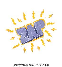 freehand retro cartoon zap symbol