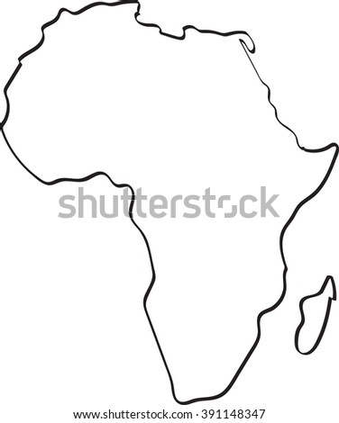 Freehand Sketch Africa Map On White Stock Vector (Royalty Free