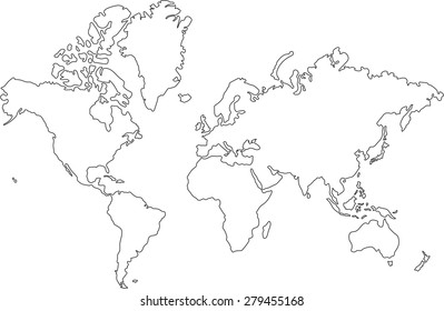 World Map Drawing Images Stock Photos Vectors Shutterstock