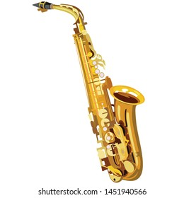 freehanding drawing saxophone jazz concept