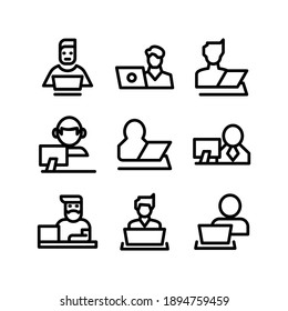 freelance icon or logo isolated sign symbol vector illustration - Collection of high quality black style vector icons