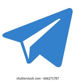 Freelance Paper Plane vector icon. Flat cobalt symbol. Pictogram is isolated on a white background. Designed for web and software interfaces.