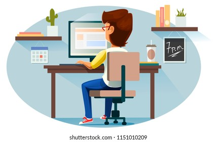 Freelancer, vector illustration