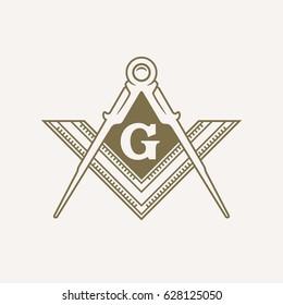 Freemason Flat Vector Symbol