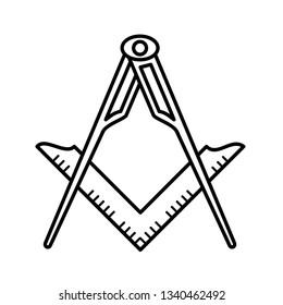 Freemason sign icon
