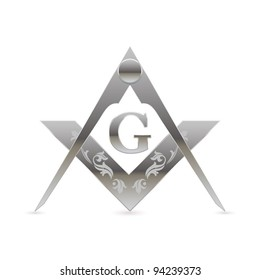 Freemason square and compasses symbol