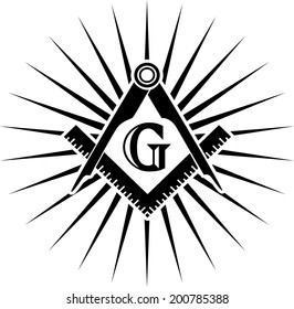 Freemasonry, Square And Compasses, G = Great Architect / God / Grand Lodge