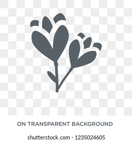 Freesia icon. Trendy flat vector Freesia icon on transparent background from nature collection.