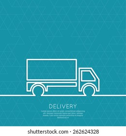 Freight transport. Concept delivery service.