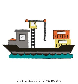 Freigther ship boat