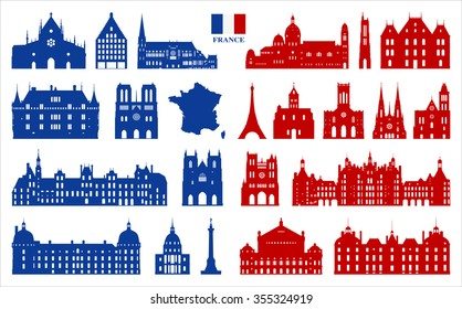 French Architecture and symbols of France.