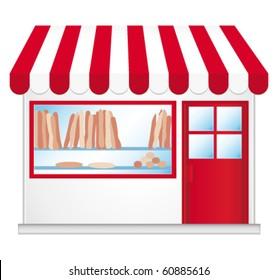 French bakery. Vector illustration.