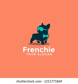 French bulldog cute logo