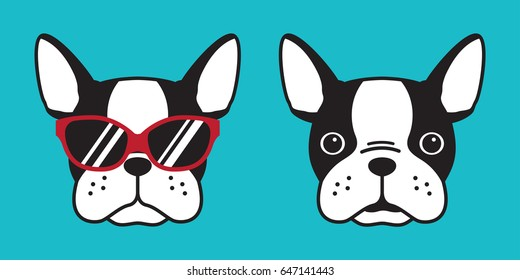 French bulldog dog head dog face illustration