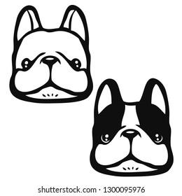 French Bulldog Face logo