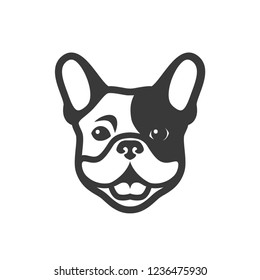 French bulldog - Frenchie logo - vector illustration