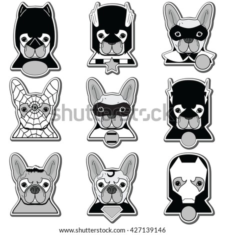 French bulldog heroes in