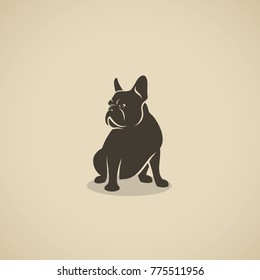 French bulldog icon - vector illustration